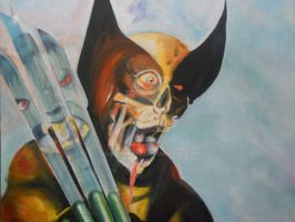 MARVEL ZOMBIES WOLVERINE by BUMCHEEKS2