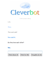 First Cleverbot Dialogue by RevolutionaryAngel