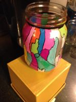 Stained Glass Jar by jurei