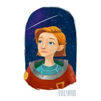 Female Astronaut by tkaracan