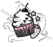 Cupcake Tattoo Design by sabakunoruby