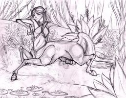Clytemnestra At the Spring by o-WingedPanther-o