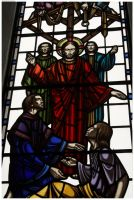 Stained glass with Jesus by DailyAtheist