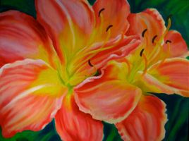 Daylily 2 of 3 by TernFeather