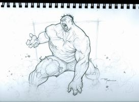 Hulk Skizzetch by johnnyrocwell