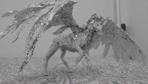 Winged Unicorn (Tin Foil) by serioussam2006