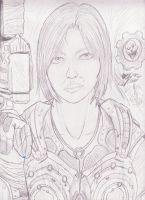Gears of War 3 - Anya Stroud - Drawing by RLG4X