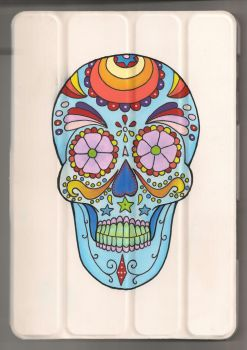 Sugar Skull on Tablet by sharkinc