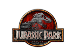 Jurassic Park Logo Wooden by jamespero