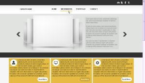WP Theme - Yellow Blocks by So-ghislaine
