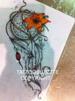 Dream catcher tattoo design by tattoosuzette