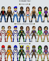 New Universe MMPR Season 03 Battle Force by Commadore-Shuey