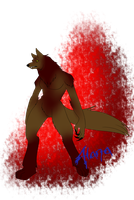 Alana's werewolf form by Red-RainGoddess