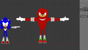 Sonic boom Knuckles WIP by Nibroc-Rock