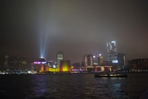 Hong Kong Lightshow 3 by Malakhite