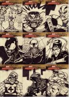 marvel sketch cards 124to132 by anjinanhut