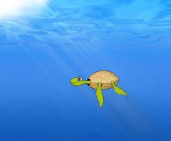 a turtle by oNh