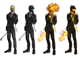 Ghost Rider redesign by DarthDestruktor
