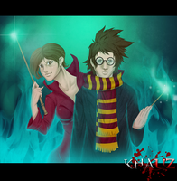 Harry and Hermione by khauz666