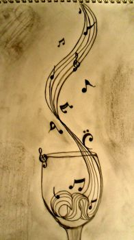 music notes by tinkerbell229