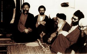 Rahbar and Ayatullah beheshti by time-of-new-moon
