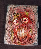 Zombie Slime Rot Cigarette Case OOAK by Undead-Art