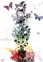 Flower,Butterfly by iso-50