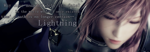 Lightning FFXIII-2 siggy by SnowFFXIII