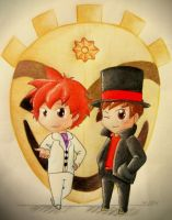 Professor Layton and the miracle mask by andropov97