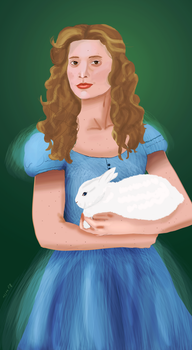 Alice and the white rabbit by LuckyOwl2306