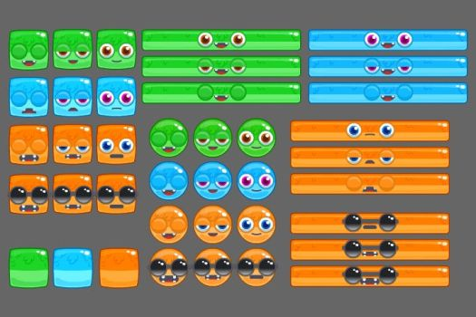 Game Sprites by FlashGameArtist4Hire