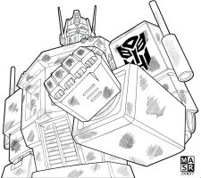 Optimus Prime 3 by rattrap587