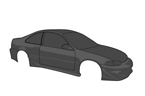 Honda Civic Coupe Vector WIP1 by ragingpixels