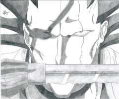 Bleach:Kenpachi Zaraki Killer Face by Grimmichou