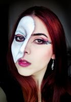 Phantom of the opera inspired look (other side) by cromatic-blood