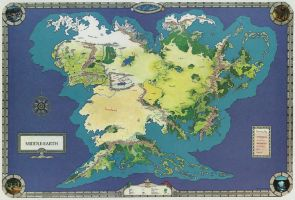 Middle-earth world map _ 2 by spicedwinefanfic