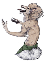 a werewolf by Anarchpeace