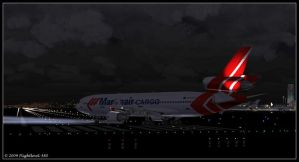 MD-11F Martinair Lineup by flightlevel-380
