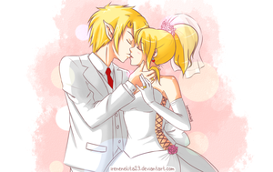 Link and Lucy [Wedding Day(Request)] by Irenechii