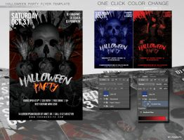 Halloween Party Flyer 4x6 FREE PSD TEMLATE by RUSSGFX