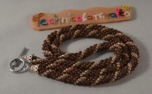 Bead Rope Crochet Necklace by technicolorcrafts