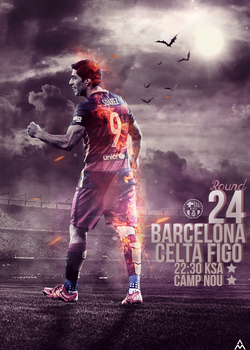 barcelona vs celta figo by mahmoddesigner