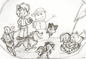 Merry Christmas Sketch by wahyawolf