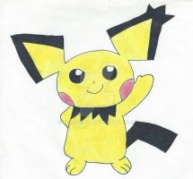 Spiky Eared Pichu by RabbitCity