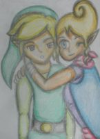 Legend of Zelda: Link and Tetra by ArtySpartyGirl
