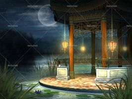 Oriental Night Lake by Trisste-stocks