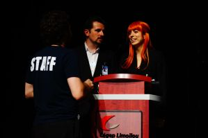 Tony Stark and Pepper Potts MCs GeekFest by SerenityPhoenix