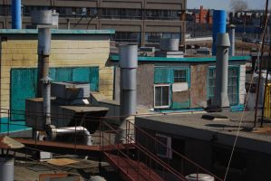 Industrial Rooftop 1 by fervalosious-stock
