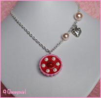 Strawberry and cream necklace by Gloomyswirl