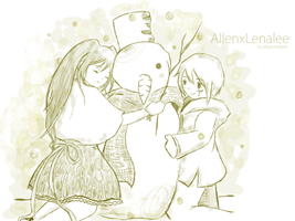 Snow:AllenxLenalee by abyss-keeper